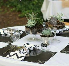 originelle Tischdeko Tischsets Ornamenten immergrüne Pflanzen