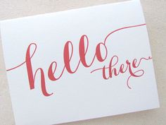 Letterpress Hello There Greeting Card