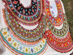 Gypsy Jewelry, Beaded Jewelry, Beaded Necklace, Collar Necklace, Crochet Collar, Beaded Collar, Custom Jewelry, Handmade Jewelry, Beading Techniques