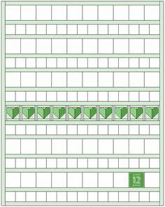 Der Herz Quilt Block ist das erste Muster des 2018er 6 Köpfe 12 Blöcke Quilts. Dieses Jahr wird mein Quilt ganz bunt vor einem Low Volume Hintergrund... Row By Row, The Row, Tips & Tricks, Quilt Blocks, Quilt Patterns, Projects To Try, Layout, Bright, Bunt
