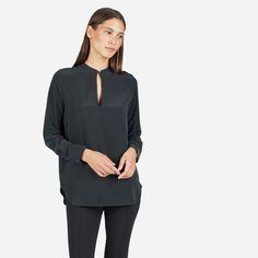 The Silk Split-Neck Shirt - Everlane $88
