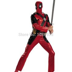 Deadpool Costume for Adults Marvel X-men Superhero Cosplay Costume Halloween Costumes for Men Party Plus Size Custom from Qq1324658346,$98.69 | DHgate.com