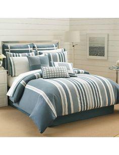 Nautica NORTH BEACH 4P King Comforter Set #Nautica
