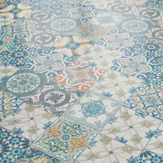 View our Aurora Ornate Moroccan Tile Laminate Flooring by Liberty Floors at Leader Floors. Tile Effect Laminate Flooring, Stone Flooring, Vinyl Flooring, Plank Flooring, Floors, Mediterranean Tile, Patchwork Tiles, Bathroom Vinyl, Decorative Wall Tiles
