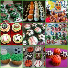 Sports Themed Cupcake Collage | Flickr - Photo Sharing!