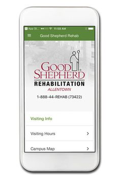 Visitors and patients of Good Shepherd Rehabilitation Hospital - Allentown can have a concierge at their fingertips with our newest mobile app. Learn more – http://bit.ly/2o161xb #ChooseTechnology