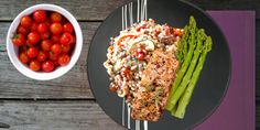 Pan-Fried Salmon with Tomato Couscous and Asparagus