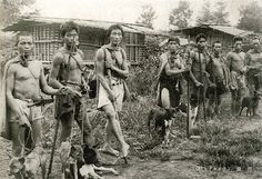 aboriginals in Taiwan, Saisiyat hunters and theirs formosan mountain dogs #Taiwan #aboriginal #hunting