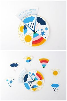 Free Printable Weather Learning Wheel for Kids. Fun preschool or toddler learning activity!