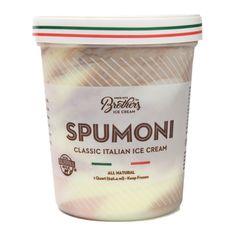 Spumoni Ice Cream - Brothers Desserts Ice Cream World, Brownie Ice Cream, Best Ice Cream, Spumoni Ice Cream, Vanilla Brownies, Christmas Ice Cream, Italian Ice Cream, Sandwich Box