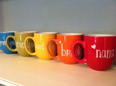 personalized mugs for mom, dad, nana, papa, grandparents, aunts, uncles, sisters, brothers &friends on Etsy, $10.00