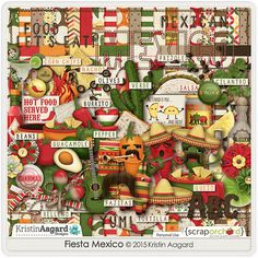 Kit: Fiesta Mexico by Kristin Aagard Designs http://scraporchard.com/market/digital-scrapbooking-kit-fiesta-mexico.html