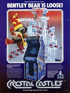 Crystal Castles - Atari, 1982 #arcade #80s #flyer