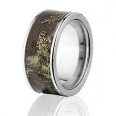 RealTree Max 1 Titanium Ring, Camo Rings, Camouflage Wedding Bands