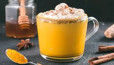 5 Ingredient Coffee Recipe to Fight Inflammation - I have a morning routine that consists of adding a few key ingredients into my cup of coffee, for the sake of helping fight inflammation. Turmeric Coffee Recipe, Turmeric Recipes, Detox Drinks, Healthy Drinks, Yummy Drinks, Healthy Meals, Turmeric Detox, Turmeric Health, Cleanse Your Liver