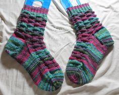 Tinas kreative Seite - selbstgestrickte Socken - Teestunde mit Mokamami