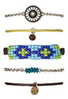 Seedbead and medallion bracelet set (original price, $14) available at #Maurices