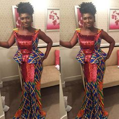 kentequeen - Ankara Design ~African fashion, Ankara, kitenge, African women dresses, African prints, Braids, Nigerian wedding, Ghanaian fashion, African wedding ~DKK