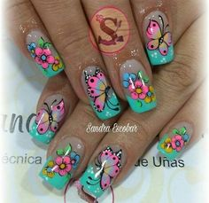 New Fails Design Cute Long Ideas Spring Nail Art, Spring Nails, Summer Nails, Fabulous Nails, Gorgeous Nails, Pretty Nails, Nail Polish Art, Toe Nail Art, Fingernail Designs