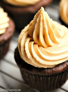 Salted Caramel Chocolate Cupcakes by Table for Two