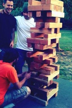 Yard Jenga! I have to make his for my house one day.