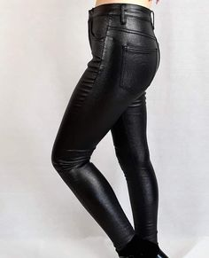 #fauxleather #shimmer #shimmereffect #jeans #pants #bottoms #outfits #outfit #fashion #clothes #clothing #smallbusiness #onlinestore Faux Leather Jeans, Leather Trousers, Natural Stone Jewelry, Black Heart, Jacket Dress, Jeans Pants, Fashion Clothes, Knitwear, Handmade Jewelry