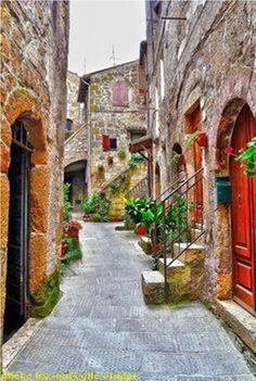 Sorano en la provincia de Grosseto - la Toscana - Italia