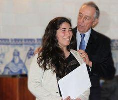 Melhor aluna 2014 Mariana Pais Entrega do premio que tem o nome da mae do  Prof Marcelo Rebelo de Sousa - Maria das Dores Rebelo de Sousa - Antiga ALuna desta escola de excelencia