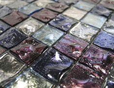 Fuoco P24256 Amethyst Designer Murano Glass Italian Mosaic Tiles