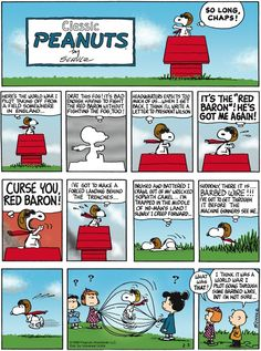 Peanuts Comic strip. I love how Charlie Brown knows exactly what snoopy is doing