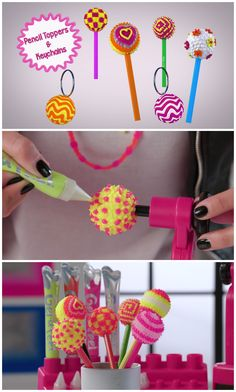 Write in style with your own customized pencil toppers! Find out how to make them using the Gel-a-Peel 3D Design Station.