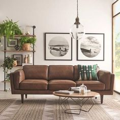 New living room white brown coffee tables 33 ideas Living Room Decor Brown Couch, Leather Living Room Furniture, Living Room White, New Living Room, Brown Leather Couch Living Room, Freedom Furniture, Interiores Design, Living Room Designs, Family Room