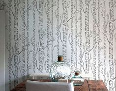 Tree STENCIL - Silver BIRCHES - Reusable Allover Forest Stencil - DIY Home Decor by OliveLeafStencils on Etsy https://www.etsy.com/listing/65843882/tree-stencil-silver-birches-reusable