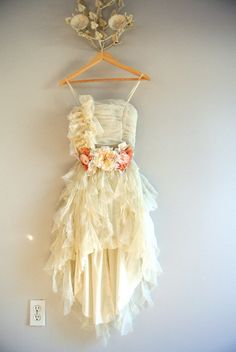 Vintage tulle prom dress French shabby party by TrueRebelClothing, $138.00