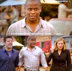 I loved the relationship between Juliet and Shawn's dads. Psych Memes, Psych Tv, Psych Quotes, Movie Quotes, Best Tv Shows, Best Shows Ever, Favorite Tv Shows, Real Detective, Shawn Spencer