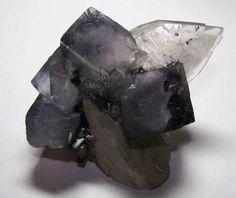 Rare Fluorite with Japanese Twin Quartz.  - Yaogangxian, Hunan Province, China