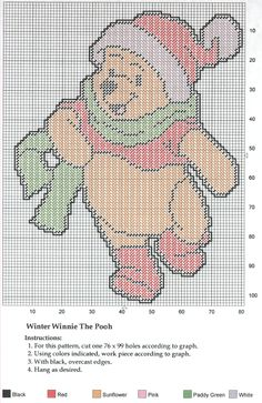WINTER WINNIE THE POOH WALL HANGING