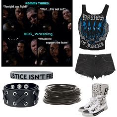 """""""The Shield is awesome"""" Wrestling Outfits, Wwe Outfits, Cool Outfits, Wwe Shirts, Nxt Divas, Aj Lee, Crop Top Outfits, Punk Fashion, Polyvore Outfits"""