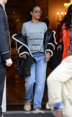 Rihanna Paris   Style 2015 - http://bestcelebritystyle.com/rihanna-paris-style-2015/