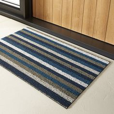 chilewich ® stripe doormat | CB2