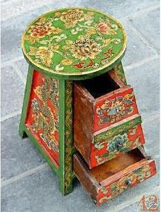 Aliexpress.com : Buy TIBETAN wood painted FURNITURE Chairs by EMS