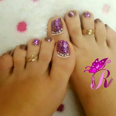 هذه #أظافر اليوم  It's Monday Pedi Time: Purple Glitter and Blinged Reverse French Toe Nails #rebeccanakhle #nails #nailpolish #pedi #pedicure #nailart #naildesign #instanail #instanails #nailaddict #naillove #naillover #showmynails #nailartwow #nailartvillage #vegas_nay #laurag_143 #nails2inspire #toes #toenails #feet #doubletab #nailporn #oje #jbeil #byblos #lebanon #turkey #istanbul