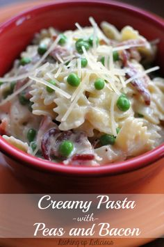 Creamy Pasta with Peas and Bacon | Tasty Kitchen: A Happy Recipe Community!