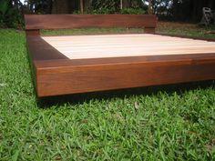 diy outdoor platform bed | Teak or Alder wood Beach Platform bed August Moon Beds