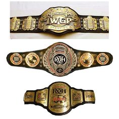 The most important titles in wrestling today #iwgp #roh