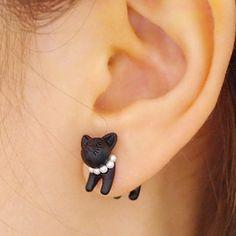 These full-body cat earrings ($4):