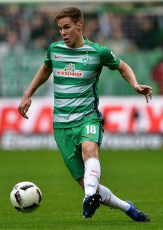 Niklas Moisander of Bremen in action during the Bundesliga match between Werder Bremen and RB Leipzig at Weserstadion on March 18, 2017 in Bremen, Germany.