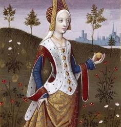 """This Century image of Venus was included in De Mulieribus Claris (Famous W. - ""This Century image of Venus was included in De Mulieribus Claris (Famous Women) which was p - Costume Renaissance, Medieval Costume, Medieval Dress, Renaissance Art, Italian Renaissance, Medieval Life, Medieval Fashion, Medieval Clothing, Medieval Art"