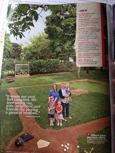 Backyard baseball field