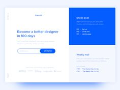Use of Split Screen on Web Design Inspiration — December 2016 – Collect UI Design, UI / UX Inspiration Blog – Medium